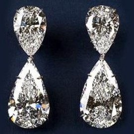 HARRY WINSTON - Diamond Drop Earrings.