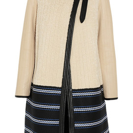 Chloé - Faux shearling and leather coat