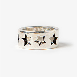 """nonnative - DWELLER RING WIDE """"STAR"""" 925 SILVER by END"""