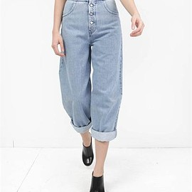 MM6 - MM6 / Bleach Stone Washed Button Pants