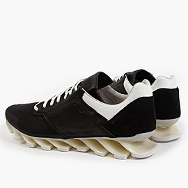 ADIDAS BY RICK OWENS - MEN'S BLACK AND WHITE SPRINGBLADE LOW SNEAKERS