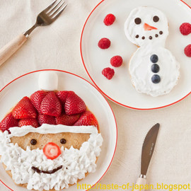 Santa Claus and Snowman Pancakes! (Vegan)