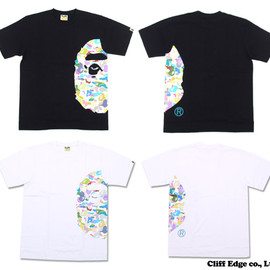 A BATHING APE - MULTI CAMO BIG APE HEAD TEE