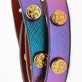 TORY BURCH - Tory Burch | logo stud leather bangle