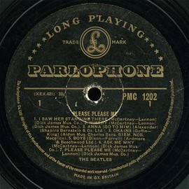 The Beatles - PLEASE PLEASE ME, Rare Golden Parlophone Label