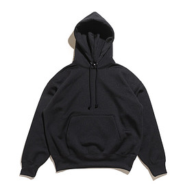 AURALEE - Baggy Polyester Sweat P/O Parka-Black