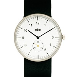 BRAUN - Braun Quartz 3 Hand Movement Watch BN0024WHBKG