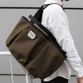 FREDRIK PACKERS - Utility Tote* flannel x chocolate