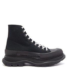 Alexander McQueen - Tread Slick high-top canvas and leather trainers