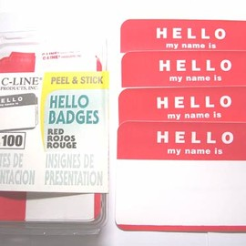100Pack Name Badges (Made in USA)