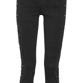 J Brand - Alba studded cropped mid-rise skinny jeans