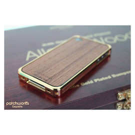 PATCHWORKS - Alloy X Wood Bumper for iPhone 4/4S - 24K×Teak
