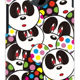 SECOND SKIN - Panda Face (クリア) design by Moisture / for HTC J One HTL22/au