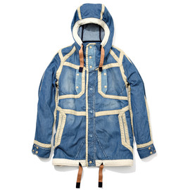 White Mountaineering - 6OZ DENIM HOODED COAT