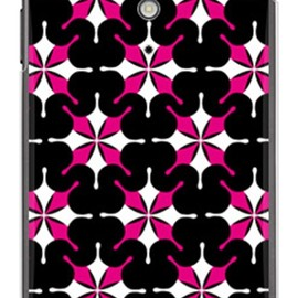 SECOND SKIN - MHAK 「SUN」 ブラック×ピンク (クリア) / for Xperia GX SO-04D/docomo