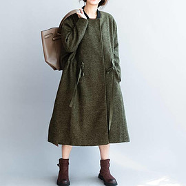 Winter Coat, Wool Coat for Women, Double breasted Wool long Coat
