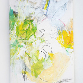 Hitosaji no osatoh (A spoon full of sugar), 2011, oil, ink, charcoal, pigment, graphite on canvas
