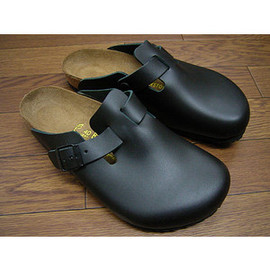 BIRKENSTOCK - Black Leather Boston