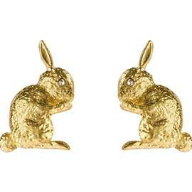 Alexis Bittar - Gold Bunny Earrings