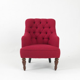 Pitfield - Anna Pink Tweed Armchair