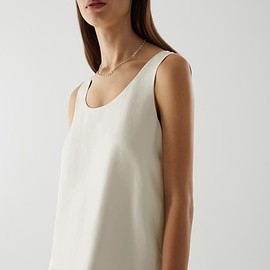 COS - MULBERRY SILK VEST TOP