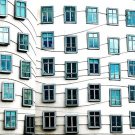 Dancing house windows