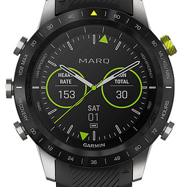 Garmin - MARQ™️ Athlete - Black/Silver/Lime