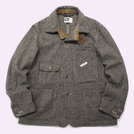 Engineered Garments - Railroader Jacket,Grey Wool Flannel Herringbone