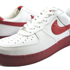 NIKE - AIR FORCE1 WHITE/VARSITY RED-BLACK