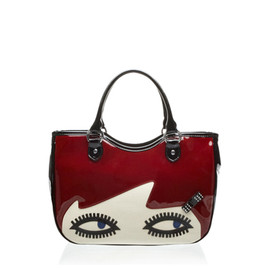 Lulu Guinness - Black Cherry Small Doll Face Wanda