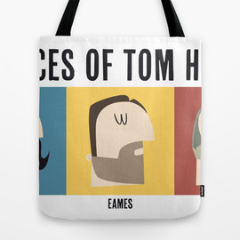Society6 - 3 Faces of Tom Hardy Tote Bag