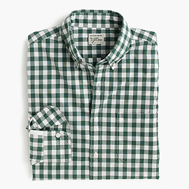 J.CREW - SLIM SECRET WASH SHIRT IN MEDIUM GINGHAM
