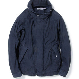 nonnative - PEDALER BLOUSON - COTTON SQUARE CLOTH OVERDYED