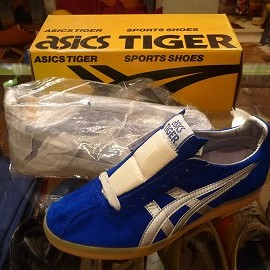 "asics - 「<deadstock>80's asics BICKER B&W blue/silver""made in JAPAN"" W/BOX size:25.5cm 10000yen」完売"