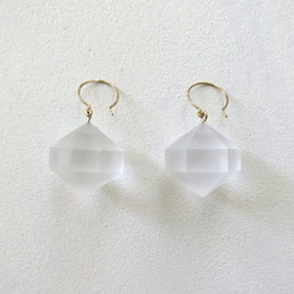 sirisiri - COMPOSITION earrings SUGAR CUBE / CP 303 (ピアス)