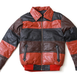 USED - Leather Downjacket