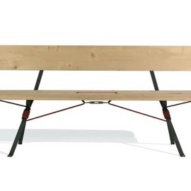 Nils Holger Moormann - Kampenwand bench with back