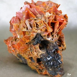 Wulfenite Crystal Skull