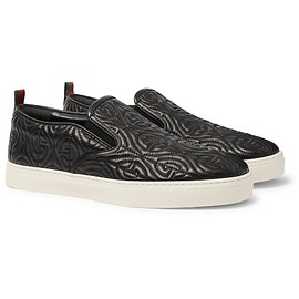 Gucci - Black Dublin Quilted Leather Slip-On Sneakers