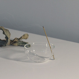 craft combine - clear b Glass Incense Burner