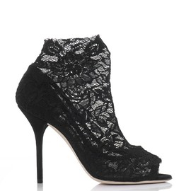 DOLCE&GABBANA - Christine lace ankle boots