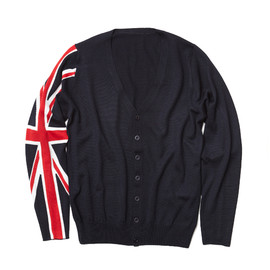 uniform experiment x ENGLATAILOR - UNION JACK KNIT CARDIGAN /NAVY