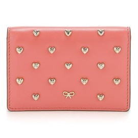anya hindmarch - Studded Heart Card Case - Coral