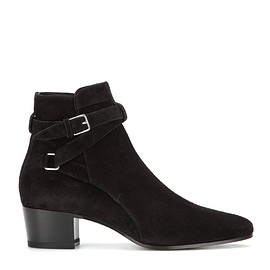SAINT LAURENT - Pre-Fall 2015 Blake suede ankle boots
