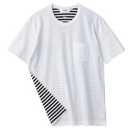 Aloye - Dots & Stripes #5 / Short-Sleeve Pocket T-Shirt
