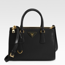PRADA - Prada Saffiano Vernice Tote Bag in Black