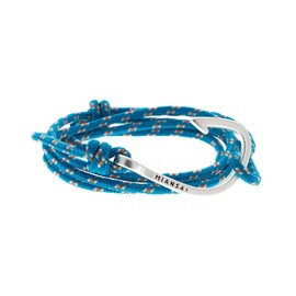 MIANSAI - STERLING SILVER HOOK PASTEL BLUE ROPE