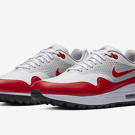 NIKE - Air Max 1 Golf - White/Natural Grey/University Red/Black
