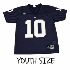 adidas - Vintage Adidas Notre Dame #10 College Football Jersey YOUTH Size Medium (10/12)