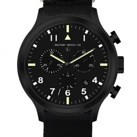 MWC (Military Watch Company) - MIL-TEC III - Military Pilots Chronograph (Black/Black)